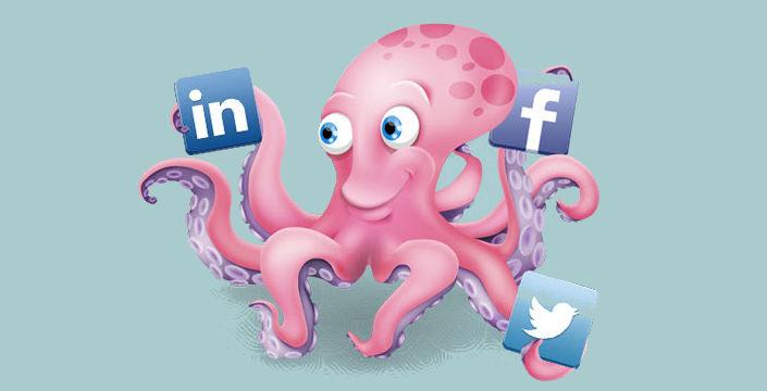 Oktopost réseaux sociaux